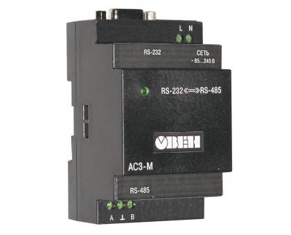 АС3-М преобразователь интерфейсов RS-232 RS-485 с гальванической изоляцией