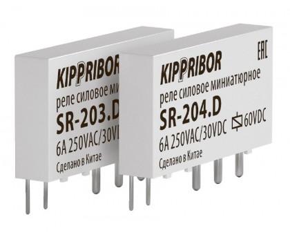 Промежуточные реле KIPPRIBOR серии SR интерфейсные в ультратонком корпусе (1-контактные)