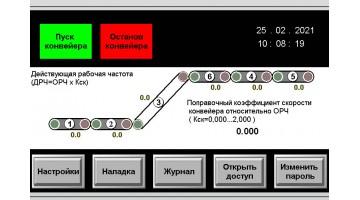 Управление и синхронизация взаимосвязанных конвейеров